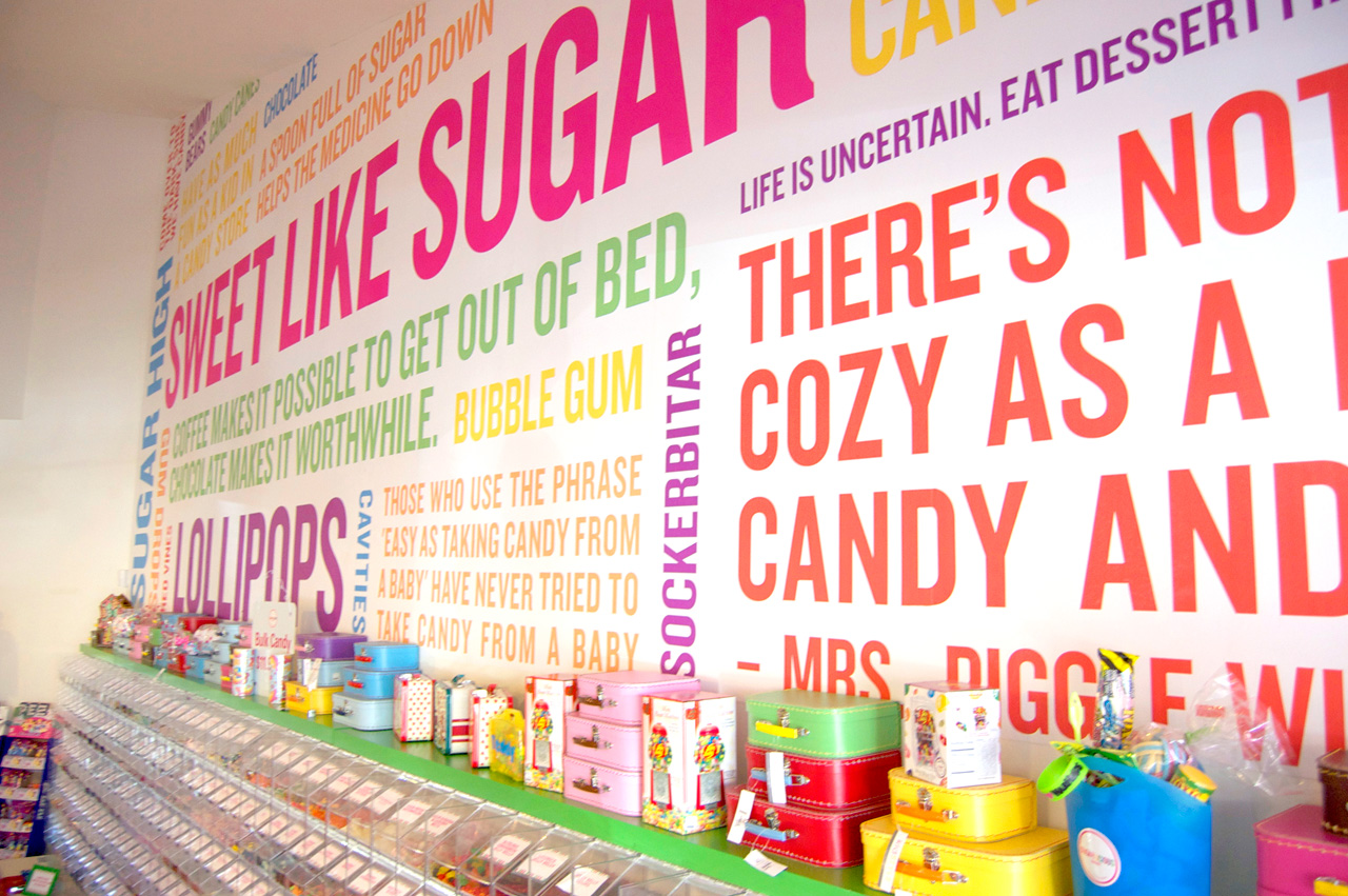 Melissa wehrman for Candy wall mural