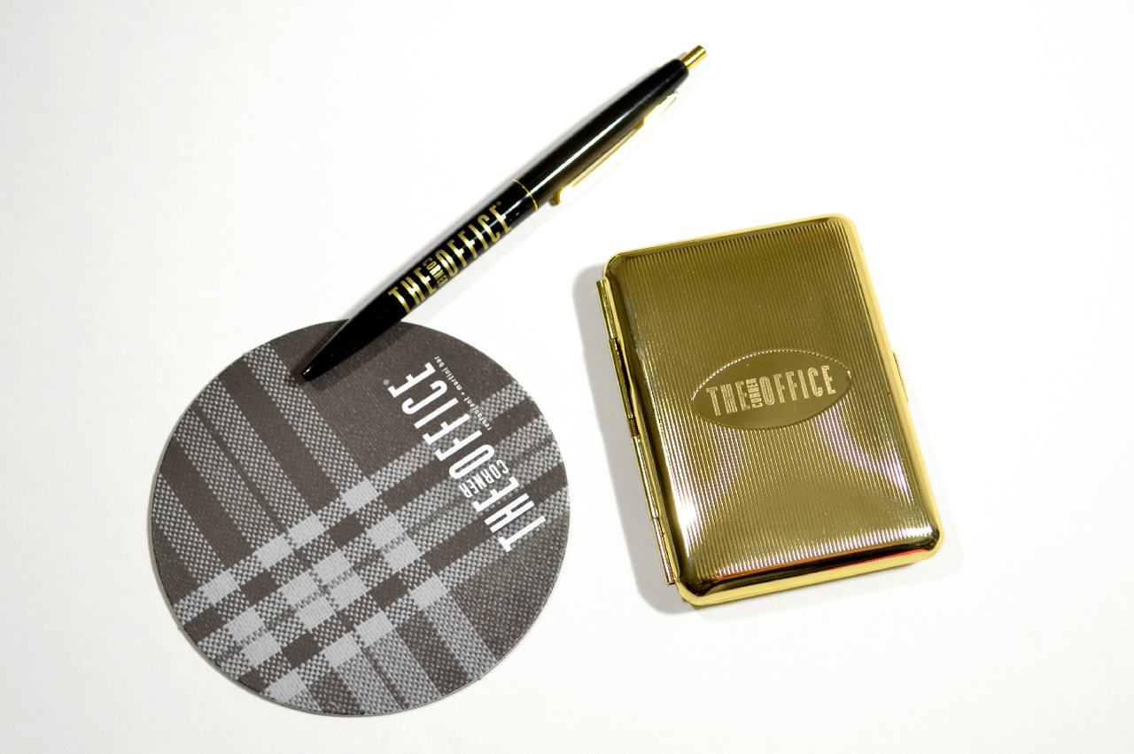 /2b.the-corner-office-denver-promotions-check-presenter-cigarette-case-coaster-pen