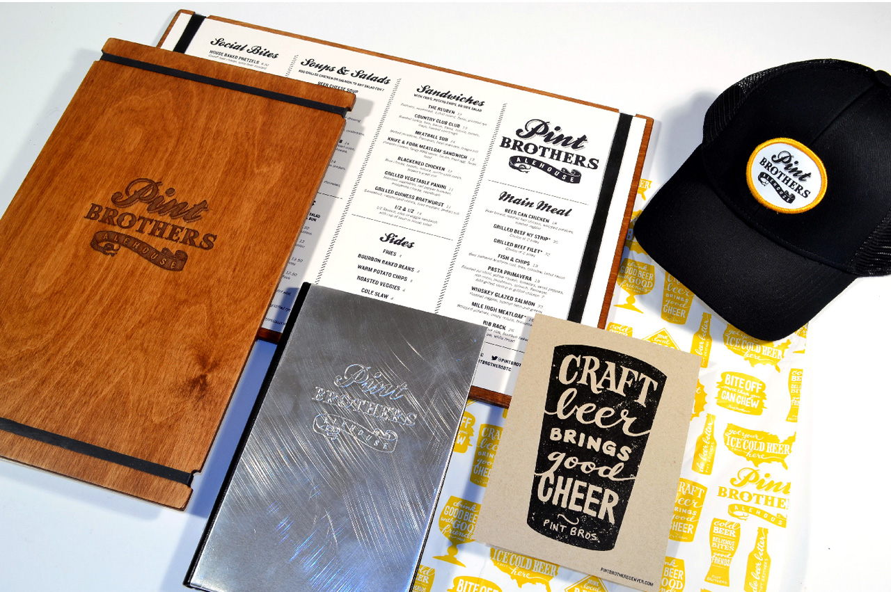 3b.pint-brothers-alehouse-restaurant-design-branding-menus-postcards-hats